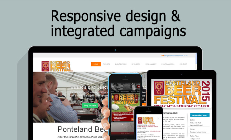 Responsive websites and emails for desktop, tablet and smartphones